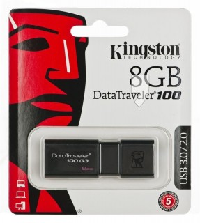 Pendrive Kingston DataTraveler 100 G3/8GB USB 3.0